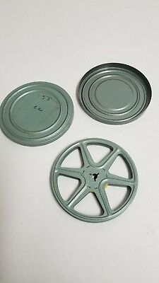 "Vintage 8mm Film 5"" Reel and case"