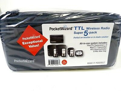 PocketWizard Mini TT1, 2-Flex TT5, AC3 Zone Controller & Case for Canon TTL, NEW
