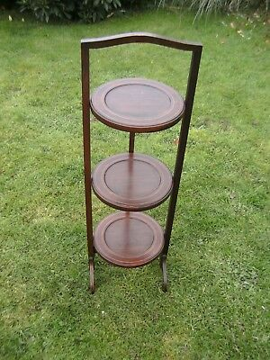 VINTAGE--CAKE / DISPLAY STAND--3 Tier--WOODEN--90cm TALL approx