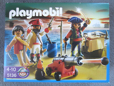 Playmobil 5136 Piraten Set Piratenkommando mit Waffenarsenal Kanone Seeräuber