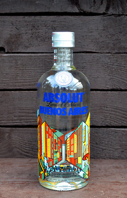 NEW Absolut Vodka 3x Buenos Aires 750ml full & sealed