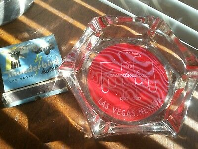 Vintage Thunderbird Casino Las Vegas Ashtray & Matchbook