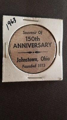 Vintage Wooden Nickel Johnstown Ohio 150th Anniversary 1963 Indian Head    o