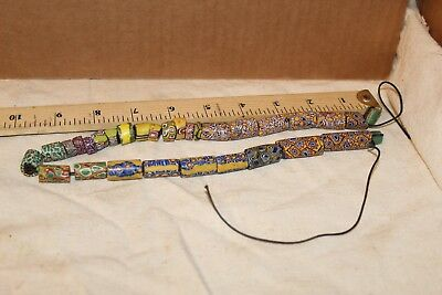 Old Millefiori strand African Trade Beads From Venice 2