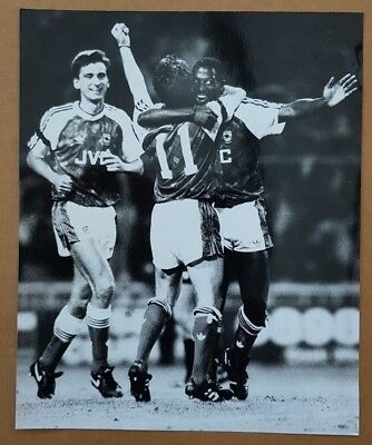 Press Photo - Kevin Campbell & Anders Limpar - Arsenal 16.8.90