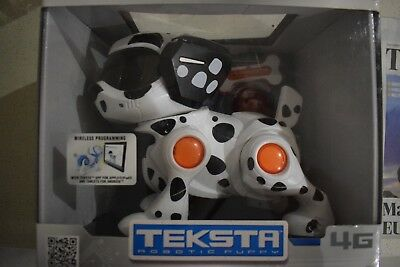 Teksta Robotic Dog Dalmation Puppy With Ball And Bone