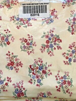 """Longaberger 36"""" Fabric Square Sweetheart Floral Bouquet New 8539118"""