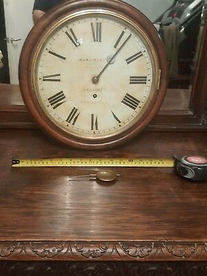 Antique School wall clock old Welsh Pontardulais Llanelly Swansea