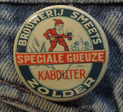 Pin Button Badge Ø38mm Bier Brouwerij Smeets Zolder Speciale Gueuse  🍺