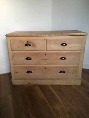 Vintage Stripped & Waxed Pine Chest Of Drawers / Antique Dresser