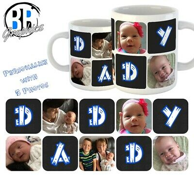PHOTO DADDY MUG Personalised Fathers Day Gift Best Dad Birthday Present Cup