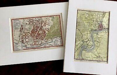 LOT OF TWO framed antique maps