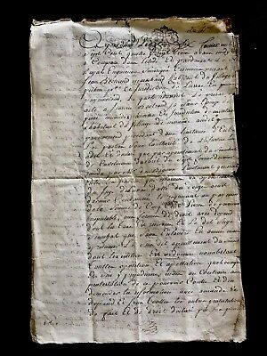 1783 Old Document on Paper