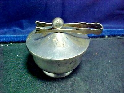 "Scarce Vintage ""WEB"" Sterling Individual Sugar Server With Tongs"