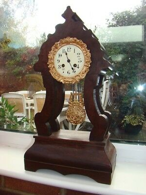 french portico clock japy freres 8 day strike for restore running and striking