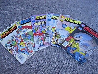 """Complete Set MIGHTY MAGNOR by SERGIO ARAGONES of """"Mad Magazine"""" Comic Books LOT"""