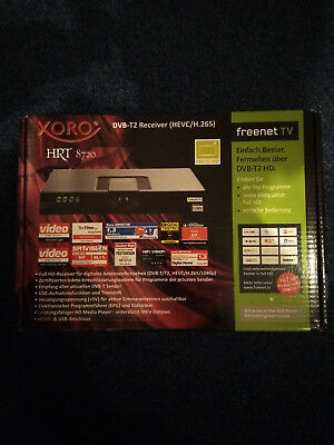 Xoro HRT 8720 HD DVB-T2 HEVC H.265 USB PVR Freenet TV Irdeto HDMI Receiver