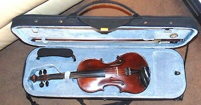PLAYABLE High Quality VINTAGE Violin + bow & case Antique Old Valuable item