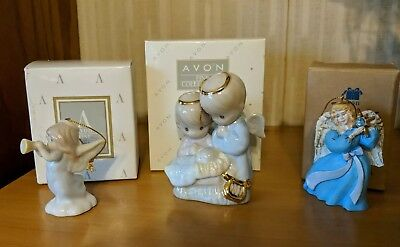 Christmas Ornaments Precious Moments, Avon Lot Of 3 Retired Discontinued