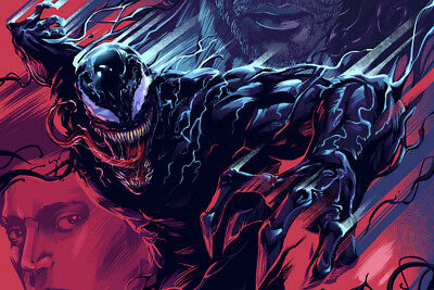 "Venom Comic Movie Marvel 24"" x 16"" Large Wall Poster Art Print Gift Decor"