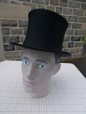 Vintage collapsible top hat by Joshua Turner 59cm