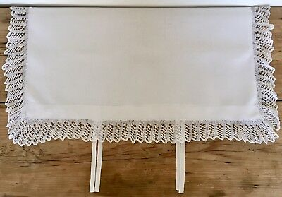 Vintage Stunning Antique Linen & Lace Pillowcase with Tie Fastening