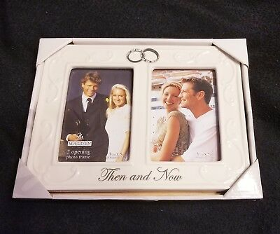 Double Interlocking Rings Then And Now Anniversary Frame 1499