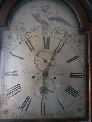 Antique Mahogany Automation Eagle Eyes Longcase  Grandfather Clock Swansea Welsh