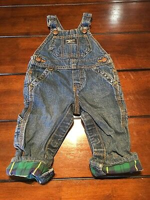 Oshkosh Bgosh Infant Boys 9 Months Overalls Snap Legs