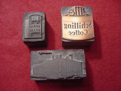 Printing Blocks McCormick Spices Factory Schilling Coffee Bee Brand Roach Killer