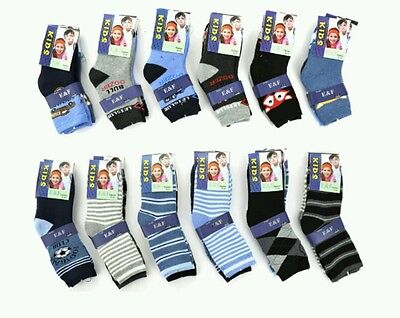 * THERMO 6 PAAR Jungen KINDER SOCKEN 27 28 29 30 Winter Warme Frottee Baumwolle*