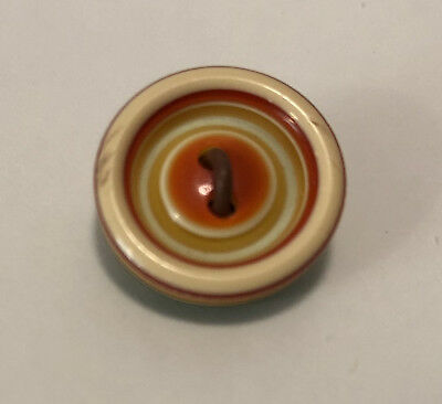 Yellow and Red Well Vintage Lea Stein Button