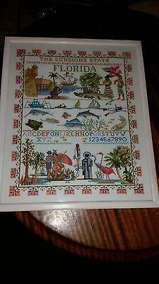 The Sunshine State Florida Lovely Sampler Picture/embriodery/stitch Vintage ?