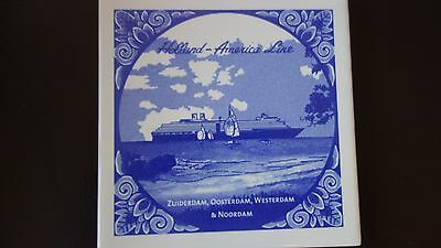 New Holland America Line  Tile Handmade In Netherlands