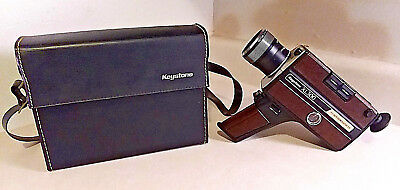 Vintage Keystone Xl300 Super 8 Movie Camera With Original Case