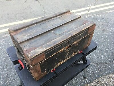 Wooden Vintage Box Trunk Treasure Chest Shabby Chic Storage Cannon Street London