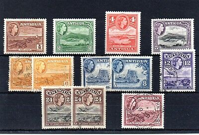 12 Stamps From The 1953 - 61 Set, Up To 60 Cents.  M & Fu.   Free Postage..
