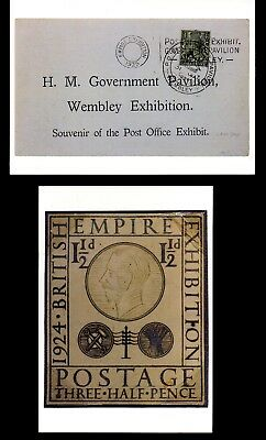 2 x NATIONAL POSTAL MUSEUM PPCs CELEBRATING THE BRITISH EXHIBITION OF 1924-25.
