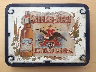 Vintage Anheuser Busch Beer Playing Cards In Tin 1988 New