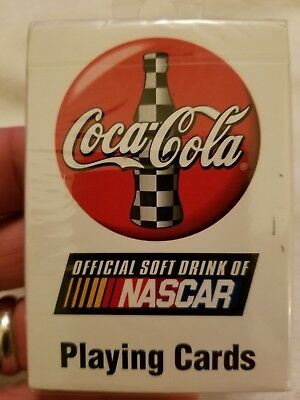 NEW Sealed 1999 Coca Cola Official Soft Drink of Nascar Playing Cards Deck