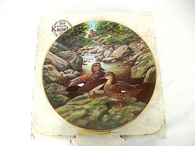 """Edwin M Knowles China Co """"The Gadwall"""" Living With Nature Bart Jerner Duck Plate"""