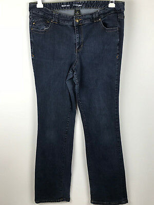Lane Bryant Womens size 20 Tall Boot Cut Dark Wash Stretch Denim Blue Jeans