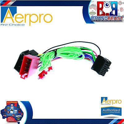 Aeropro Pioneer To Iso Connector Plug Harness 16 Pin For Avh-p4250dvd Wiring Loo
