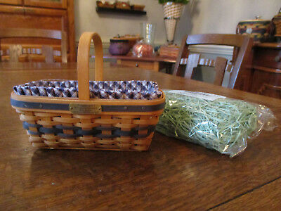 Longaberger Collectors Club J W Miniature Mini Easter Basket Combo with Grass