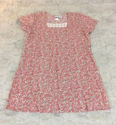 The Vermont Country Store Red Indian Print Vintage Style Cotton Dress Sz 2X NEW