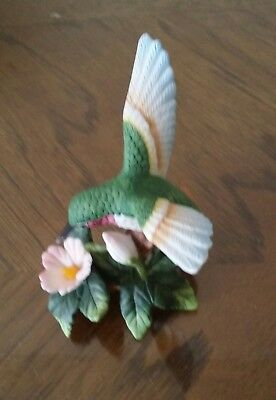 Charming Vintage Porcelain La Vie Hummingbird Hand Crafted  Great Gift Idea