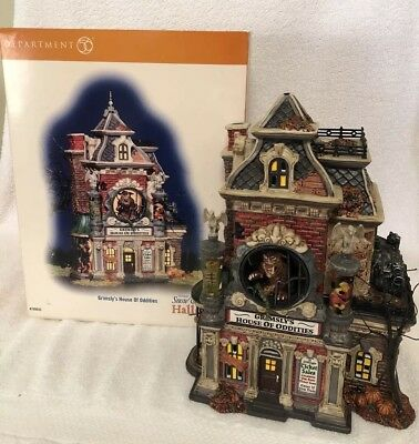 Department 56 Gargoyle Roof Finials Accessory For Grimsley's House Of Oddities