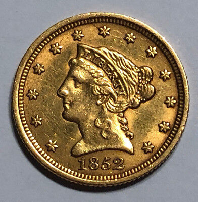 1852 $2.5 Gold Liberty Head Quarter Eagle