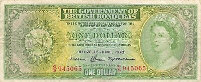 British Honduras / Belize  $1  1.6.1970  Series  G/5  Circulated Banknote E1W