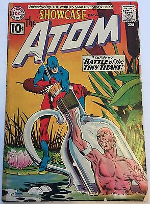 Showcase #34 G 2.0 (Sep-Oct 1961, DC) Origin & 1st Appearance Silver Age ATOM